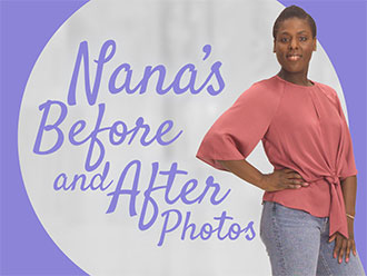Nana's before and after photos