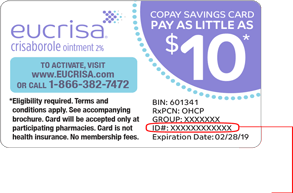 Activate Eucrisa Crisaborole Copay Savings Card